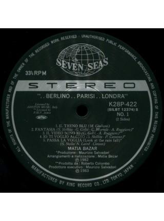 400139Matia Bazar.....( Europop)  -Berlino..Parisi..Londra (OBI,ins),1982/1983,Seven Seas - K28P 422,Japan,NM/NM
