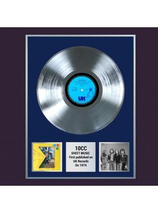 Платиновая реплика музыкального альбома 10cc – Sheet Music