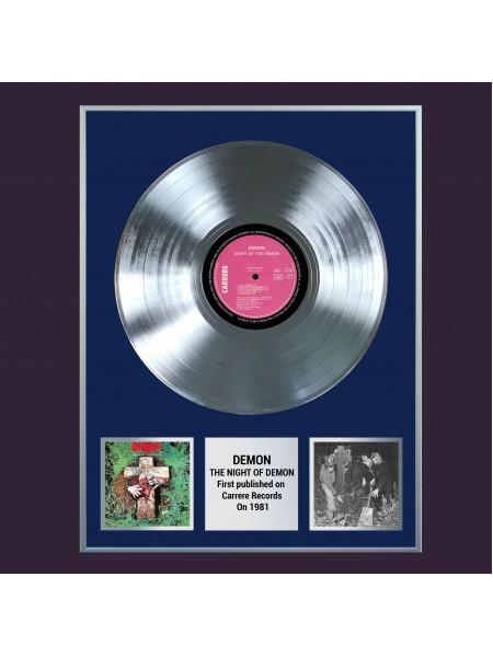 Платиновая реплика музыкального альбома Demon  – Night Of The Demon