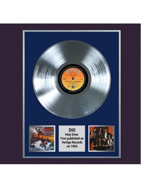 Платиновая реплика музыкального альбома Dio  – Holy Diver