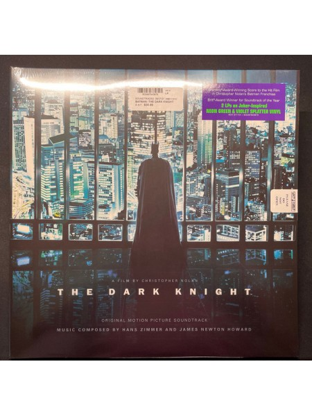 "9180746--Hans Zimmer And James Newton Howard – The Dark KnightWarner Sunset Records – RCV1 511101 / 603497843879""17.09.2021Limited Neon Green & Violet Splatter Vinyl2WM12"""" винил/33. АльбомFUL""S/S"
