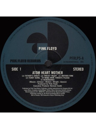 160106Pink Floyd – Atom Heart Mother2016Pink Floyd Records – 0190295997083S/SEurope