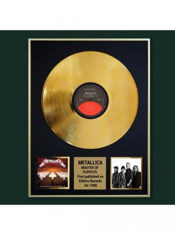 Реплика студийной золотой записи Metallica – Master Of Puppets