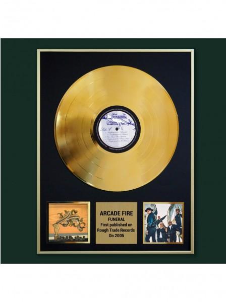 Реплика студийной золотой записи Arcade Fire  - Funeral