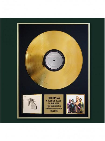 Реплика студийной золотой записи Coldplay - A Rush Of Blood To The Head