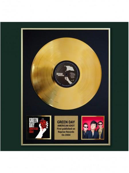 Реплика студийной золотой записи Green Day - American Idiot