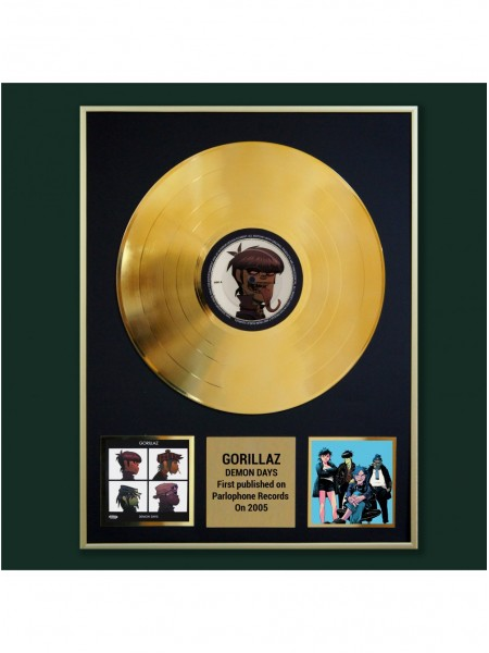 Реплика студийной золотой записи Gorillaz - Demon Days