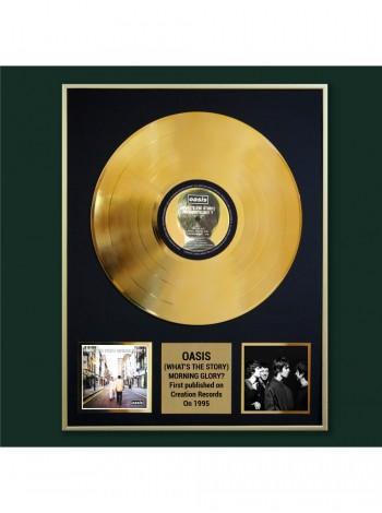 Реплика студийной золотой записи Oasis - (What's The Story) Morning Glory?