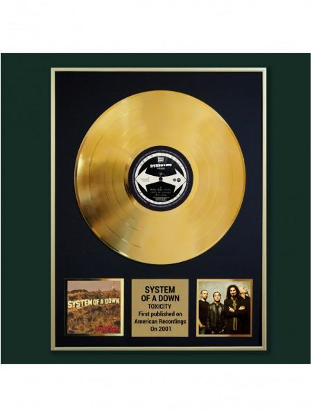 Реплика студийной золотой записи System Of A Down - Toxicity