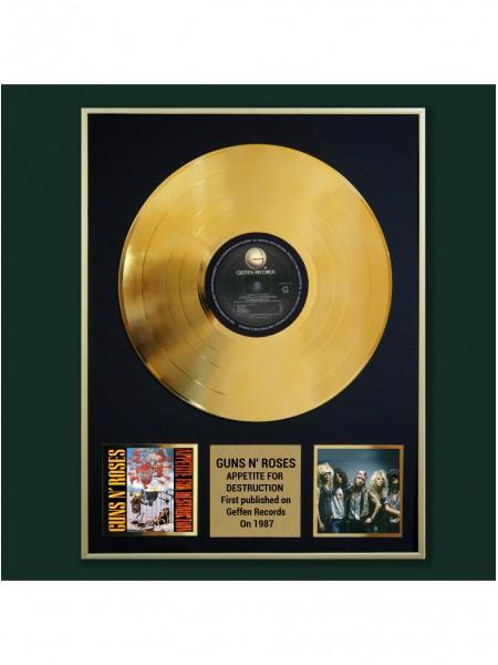 Реплика студийной золотой записи Guns N' Roses - Appetite For Destruction