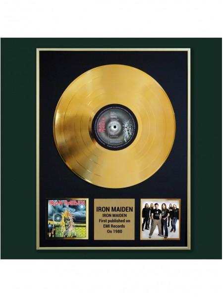 Реплика студийной золотой записи  Iron Maiden -  Iron Maiden