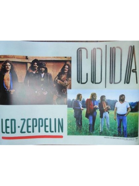 Led Zeppelin - Poster From Led Zeppelin Coda Japanese Album - Replica