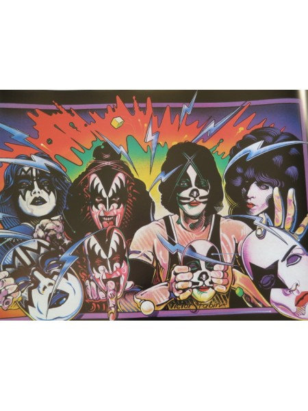 Kiss - Poster From Kiss Unmasked Japanese Album - Replica