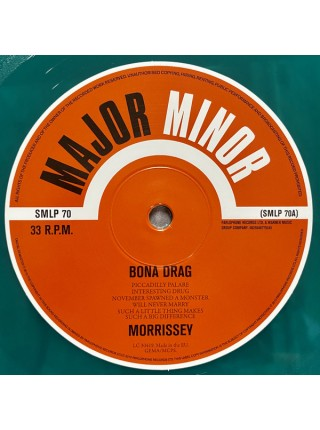 "9180214--Morrissey – Bona DragMajor Minor – SMLP 70""03.09.2021Limited 180 Gram Green Vinyl2WM12"""" винил/33. АльбомFUL""S/S"