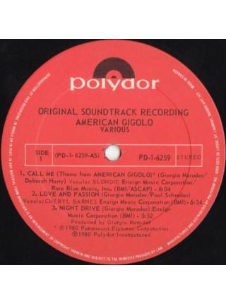 Giorgio Moroder....M - American Gigolo (Original Soundtrack Recording); 1980/1980; Canada; VG+/VG+ - 500161