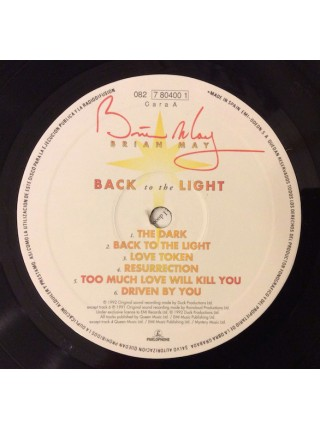 Brian May - Back To The Light; 1992/1992; VG+/ VG+ - 600029